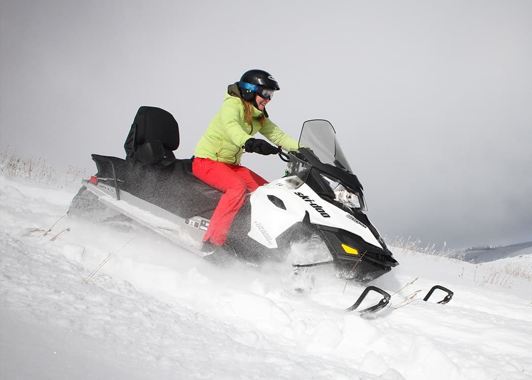 Snowmobiling with Sage is safe and fun!