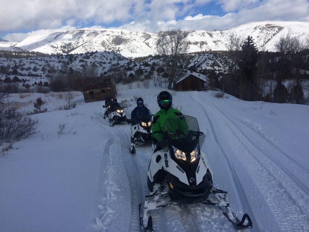 Custom Snowmobile Trails with Incredible Views
