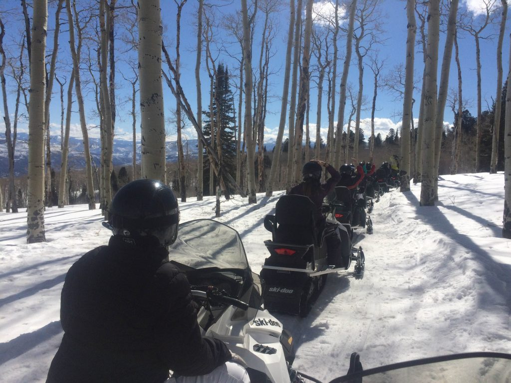 Upgraded Snowmobile technology allows for a quiet appreciation of nature