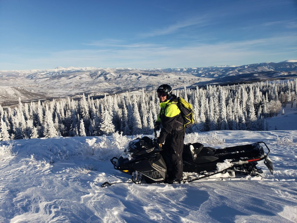Winter Season in Vail, CO is a Snowmobiling paradise