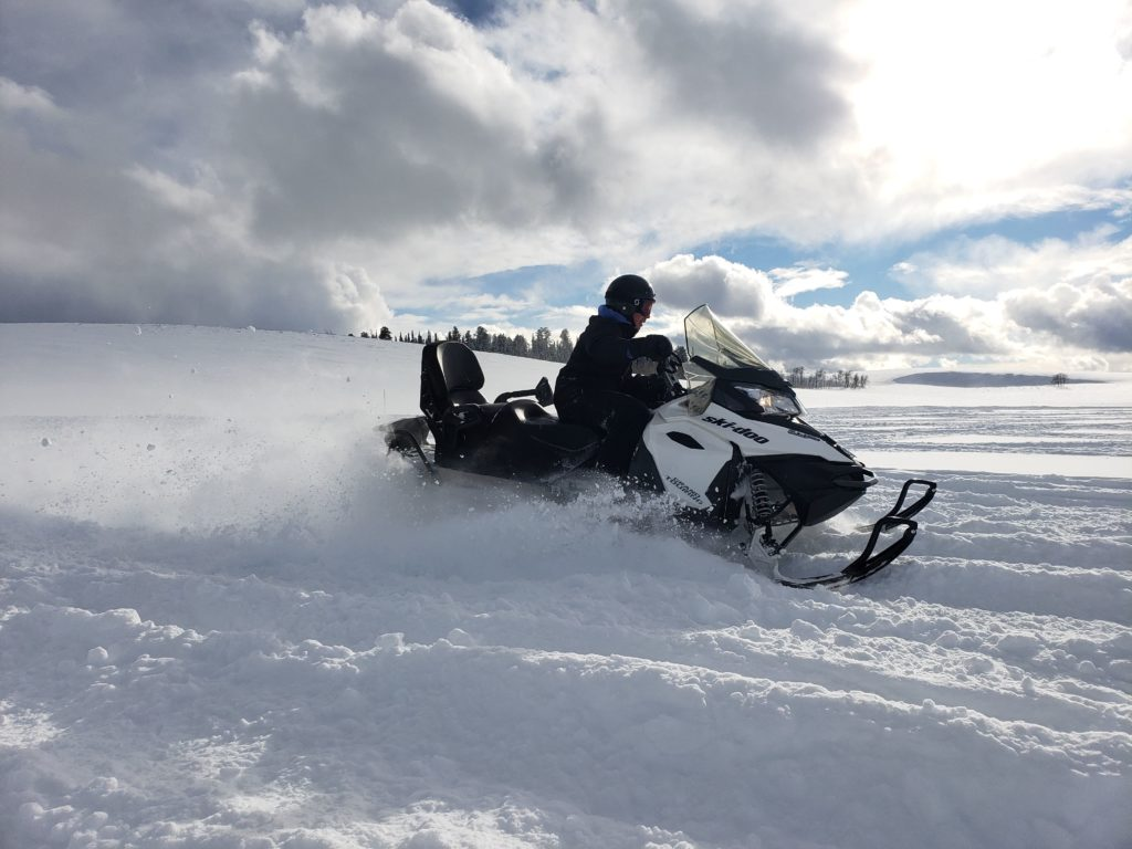Learn how to drive a snowmobile at Sage