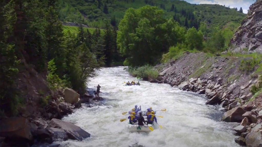 Whitewater Rafting the Upper Eagle