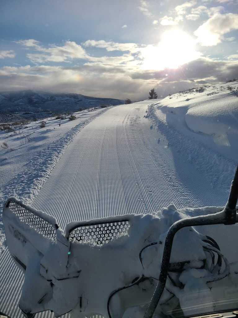 Grooming Mountain Snowmobile Trails